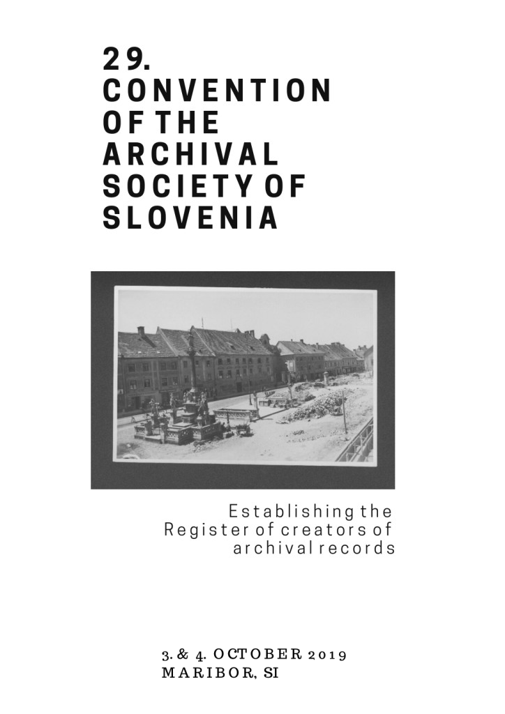 29th Convention of the Archival Society of Slovenia