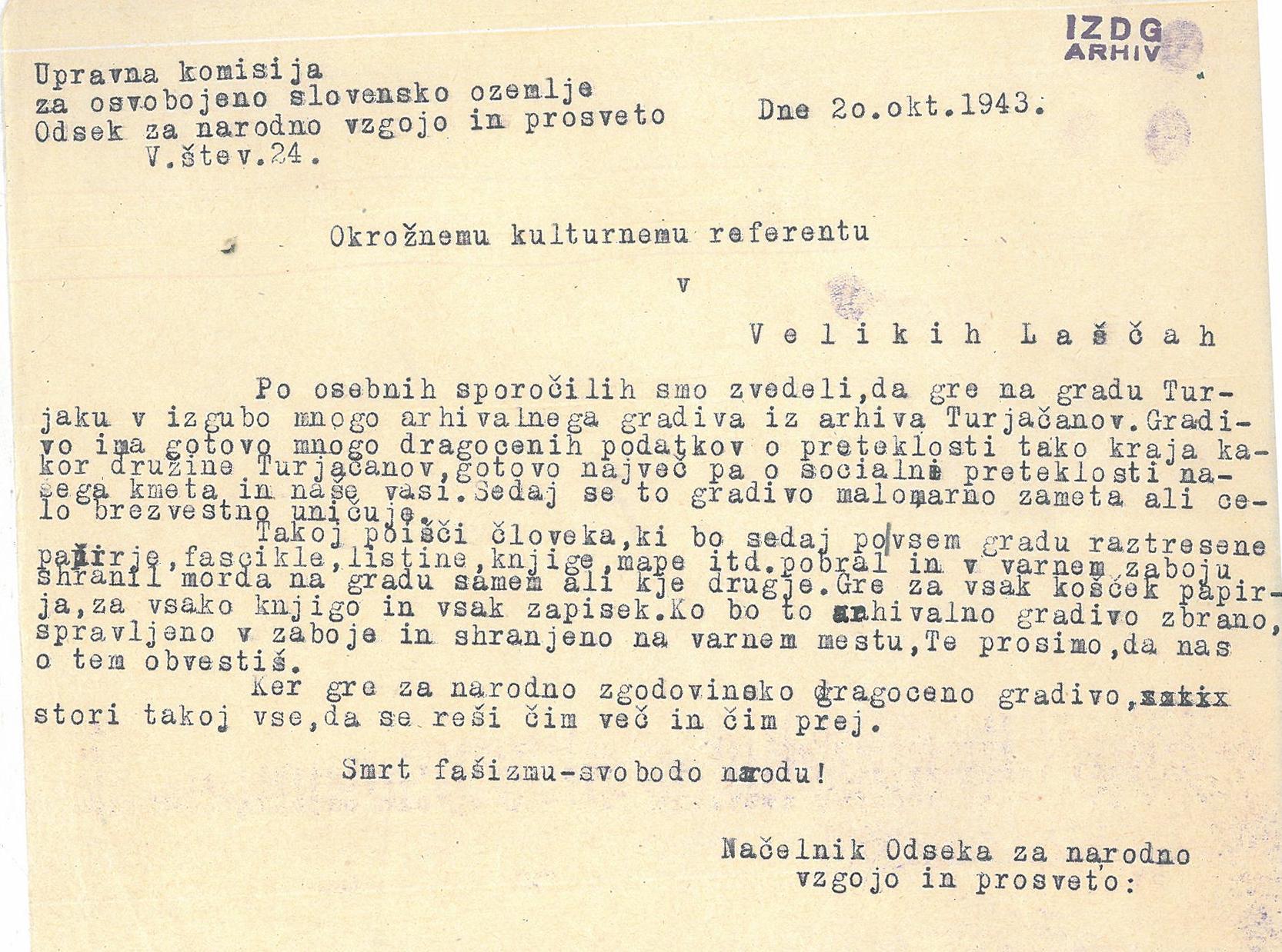 20. oktober – dan slovenskih arhivov